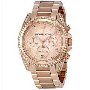 Michael Kors Rose Gold 'Blair' Watch